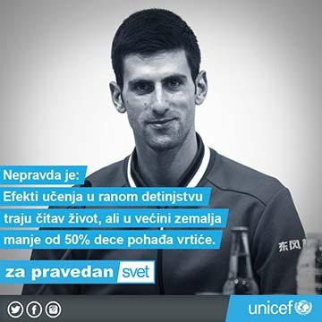 Unicef Novak Đoković